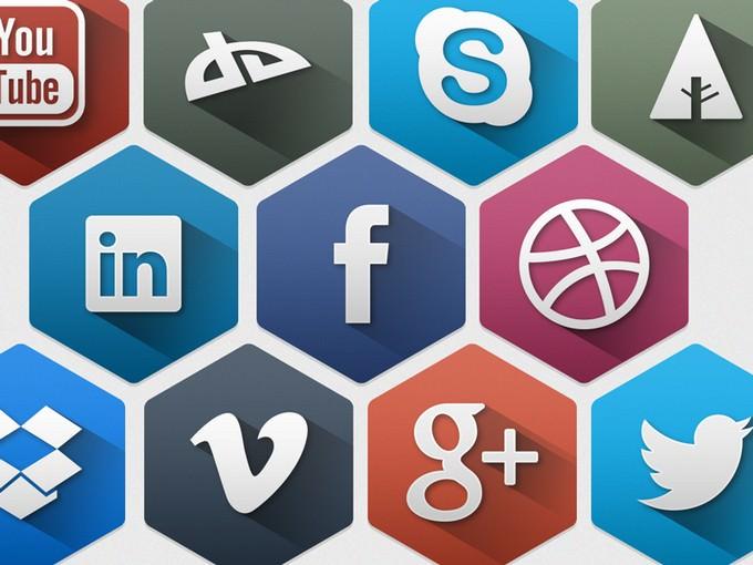 Hexagon Social Icon