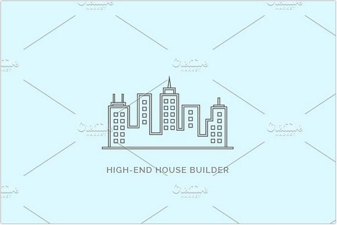 High End House Builder Logo