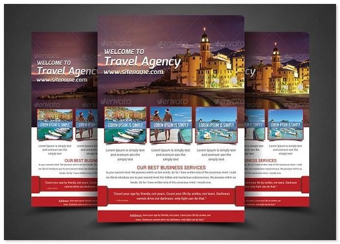 Holiday Travel Flyer Print Templates