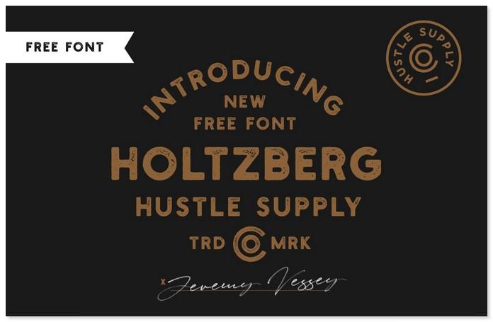 Holtzberg Free Font