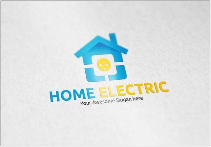Home Electric Logo design