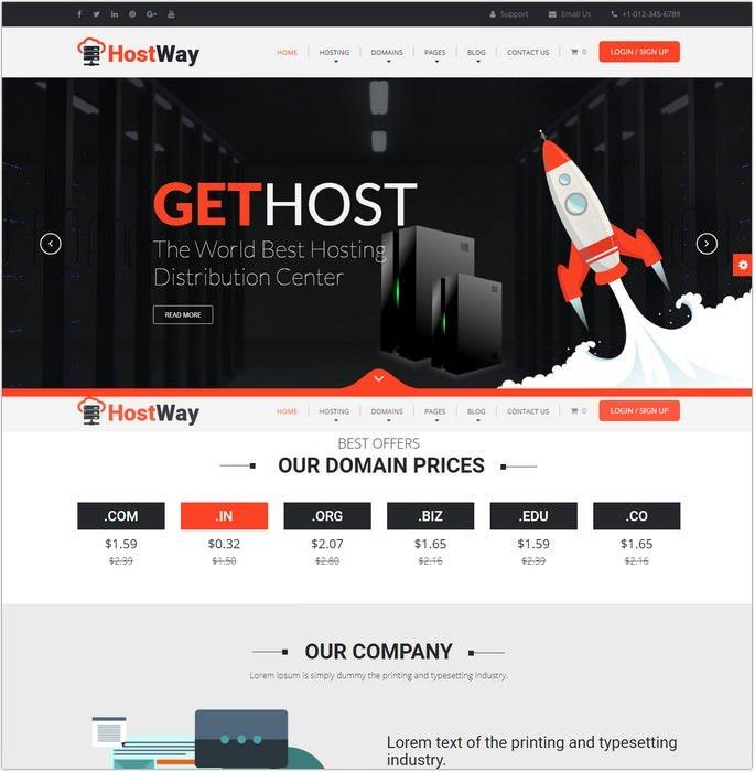 HostWay - Responsive Hosting Template