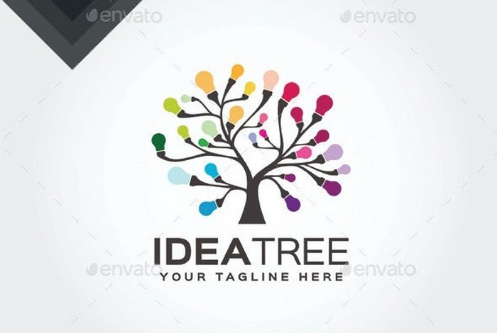 Idea Tree Logo Template