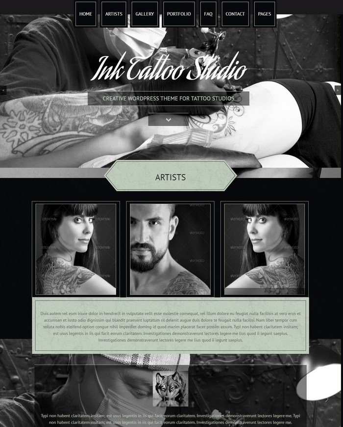 Ink Tattoo Studio – Creative WordPress Theme