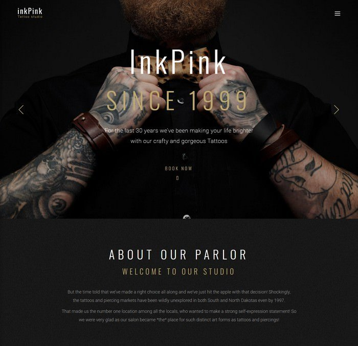 InkPink - Tattoo Studio WordPress Theme