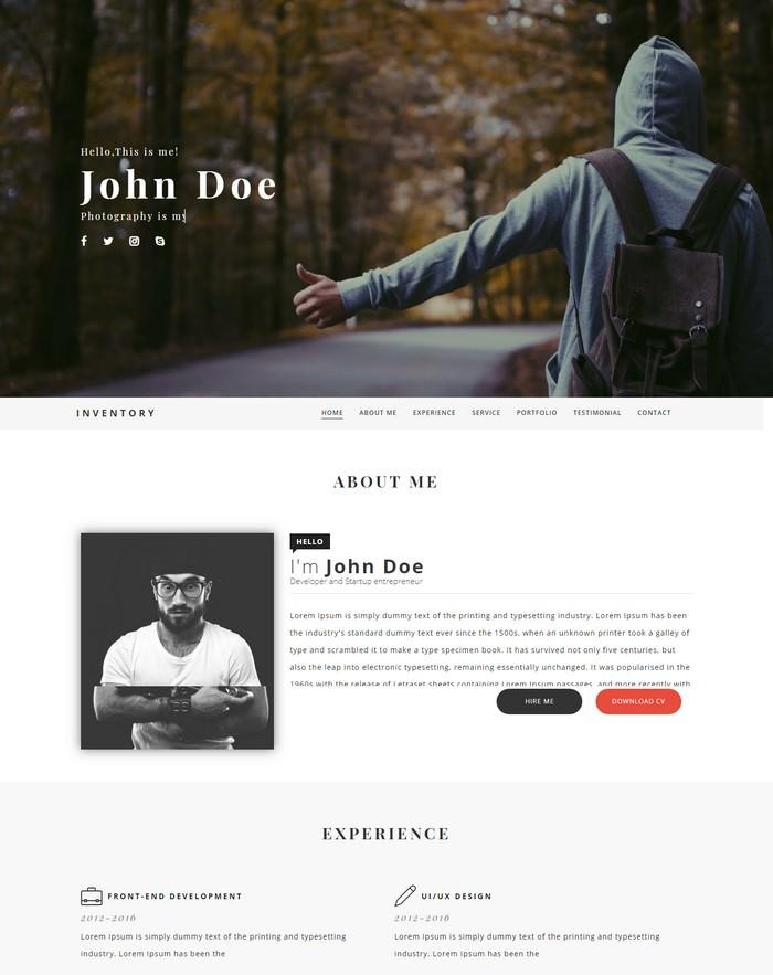 Inventory Portfolio Blogger Template
