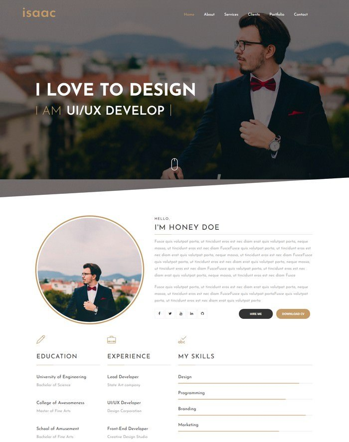 Isaac Landing Page Blogger Template