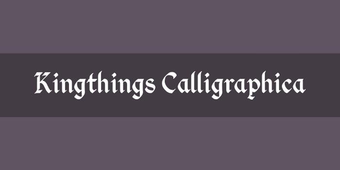 Kingthings Calligraphica Font