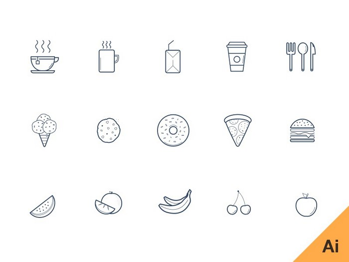 Kitchen Glyph Icons