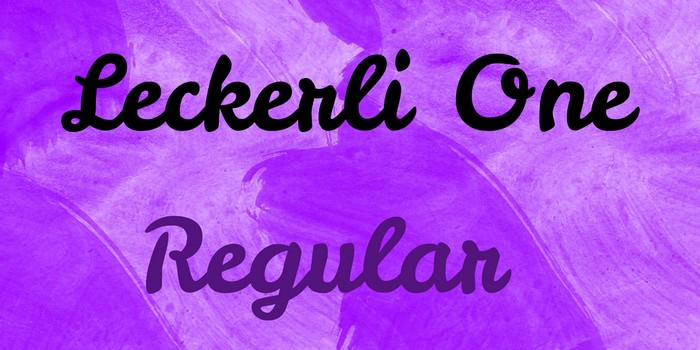 Leckerli One Font