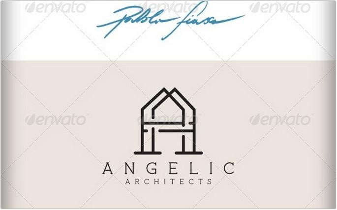 Letter A Interior Design Logo