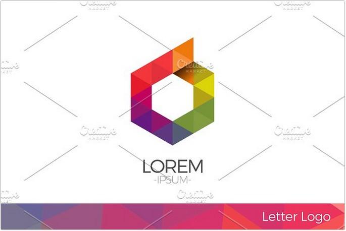 Letter O Vector Origami Logo