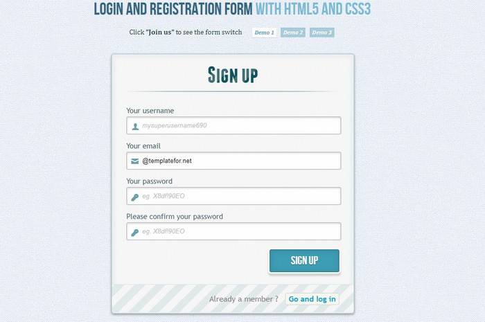 Login and Registration Form