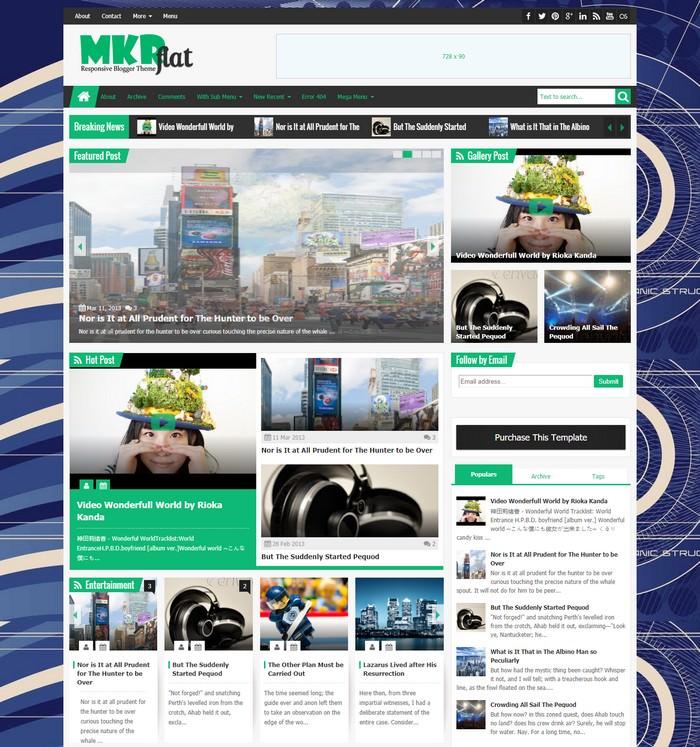 MKRflat – Responsive Magazine/News Blogger Theme
