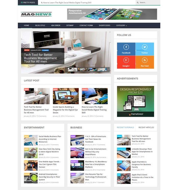 MagNews – Responsive Blogger Template