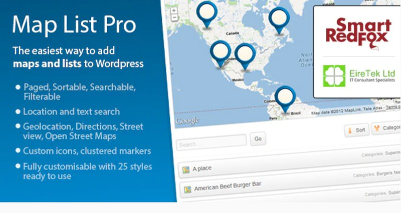 Map List Pro - Google Maps & Location directories