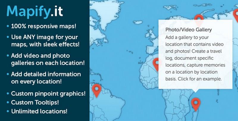 Customized Google Maps for WordPress
