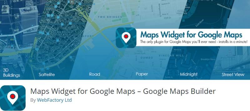 Maps Widget for Google Maps – Google Maps Builder(Free)