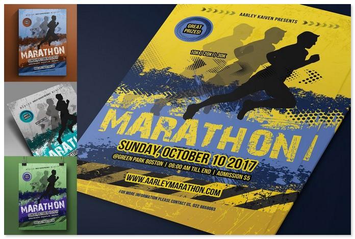 Marathon Event Advertising Flyer