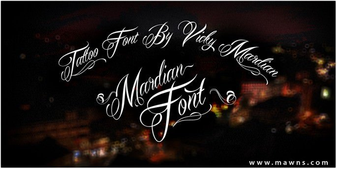 Cursive Mardian Font
