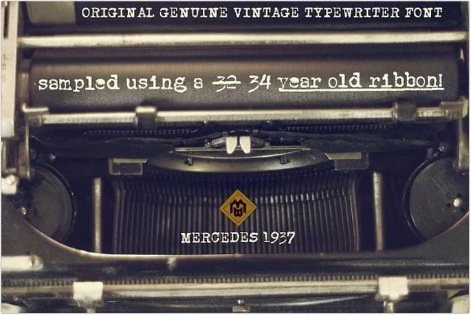 Mercedes1937 Font