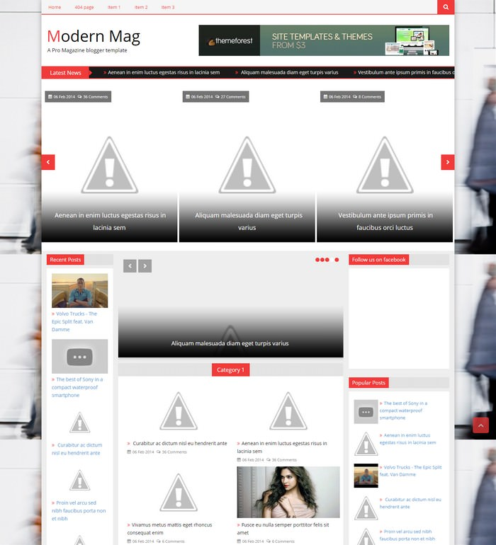 Modern MagA Pro Magazine blogger template