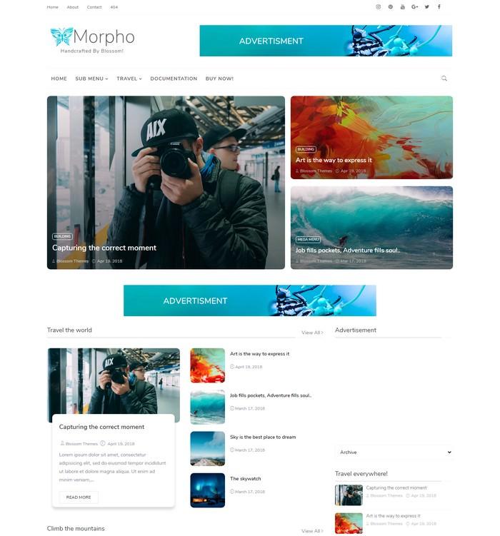 Morpho Blogger Theme