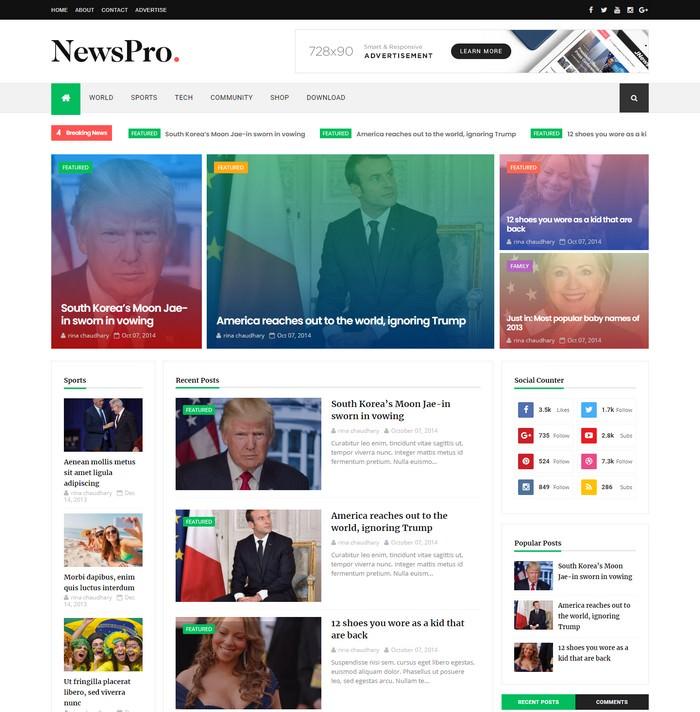 NewsPro Responsive Blogger Template