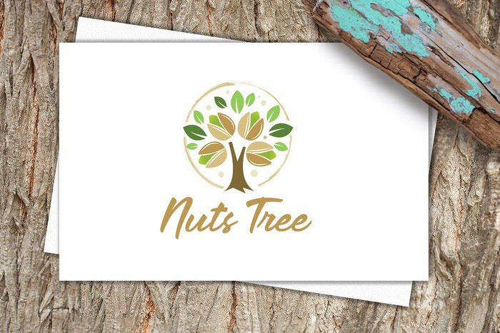 Nuts Tree Logo Template