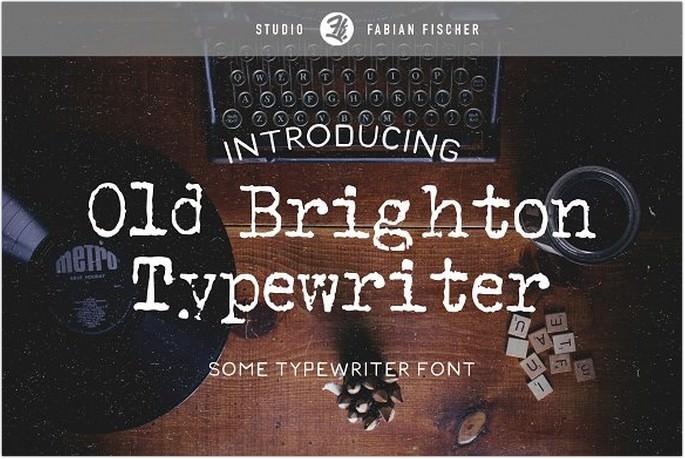 Brighton Typewriter Font