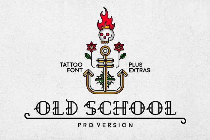 Old School - Cool Tattoo Retro Font