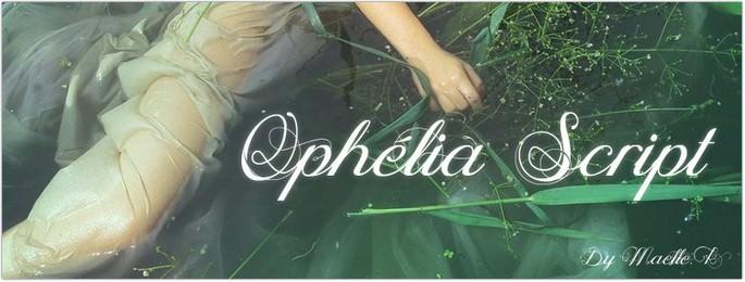 Cursive Ophélia Script Font