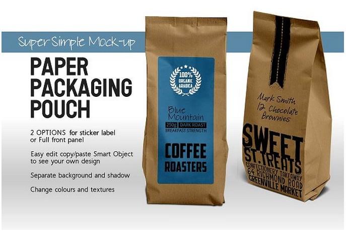 Paper Bag Packaging Mock-up