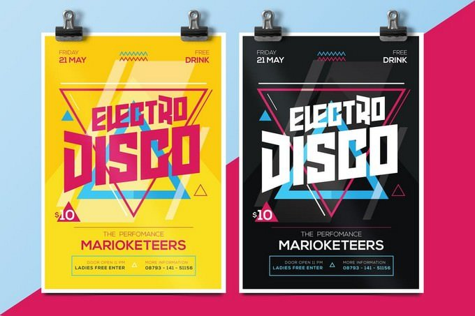 Performance Electro Disco Flyer Template