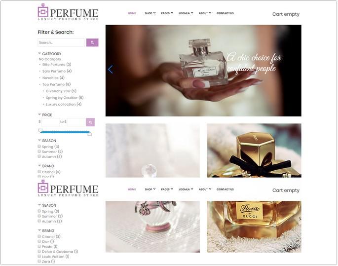 Perfume Store - E-Commerce template