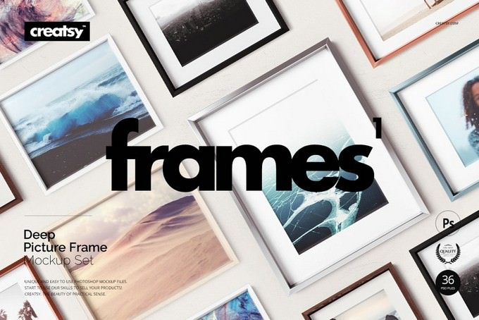 Picture Deep Frame Mockup Set