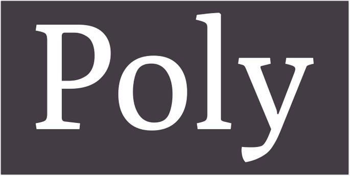 Free Poly Font