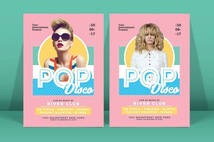 Pop Disco Flyer Template