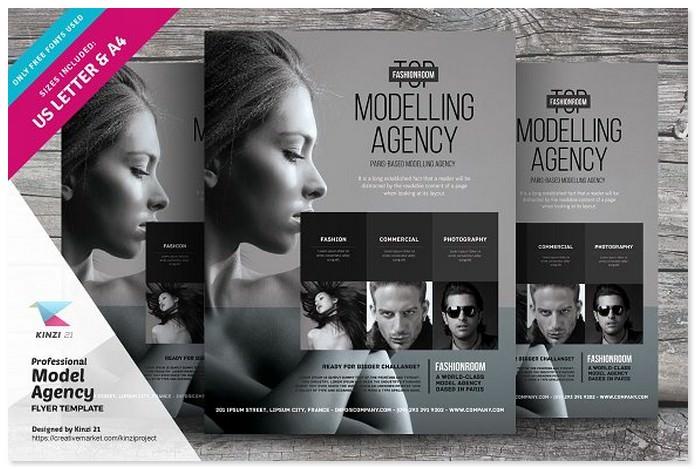 Professional Model Agency Flyer