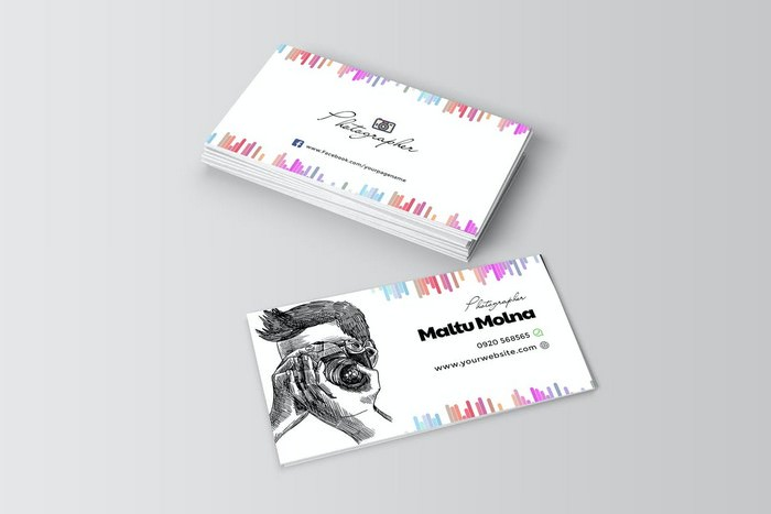 Professional Photographer Visiting Card Template