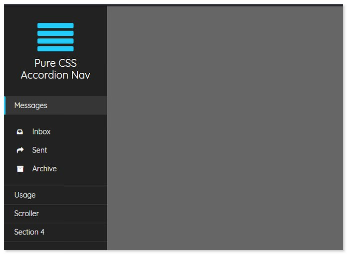 Pure CSS Accordion Nav