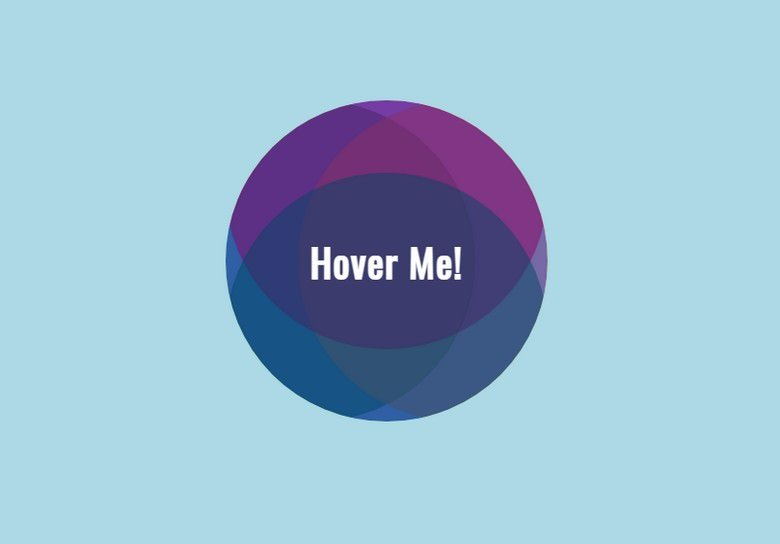 Pure CSS Circle Hover Affect