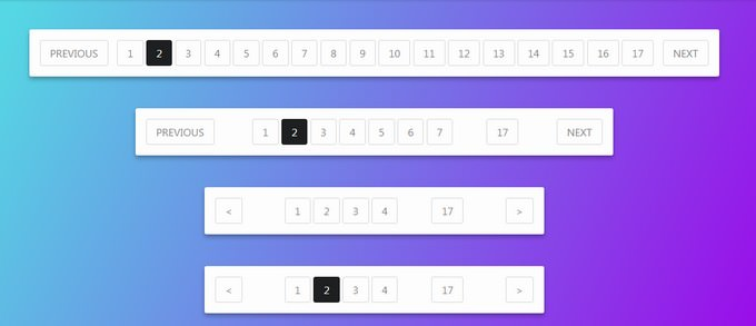 Pagination HTML Templates