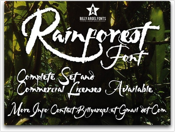 Rainforest Font