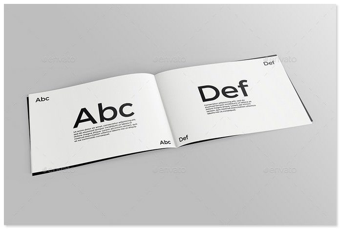 Realistic Catalogue Booklet Mockup