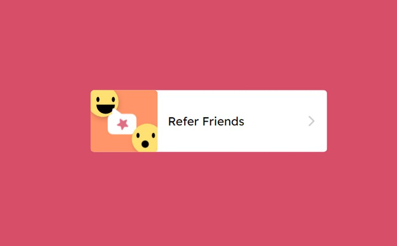 Refer Friends Hover Animation
