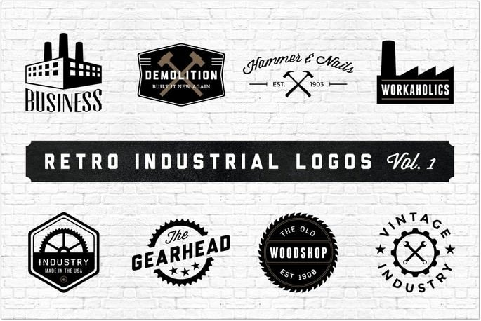 Retro Industrial Logo