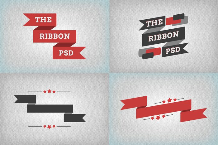 Ribbons (flat) PSD