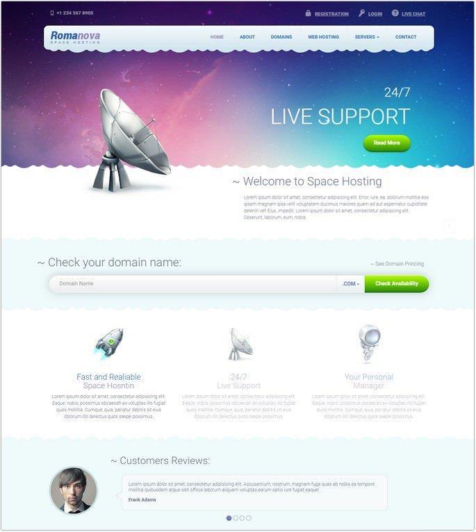 Romanova - Web Hosting Company Responsive Template