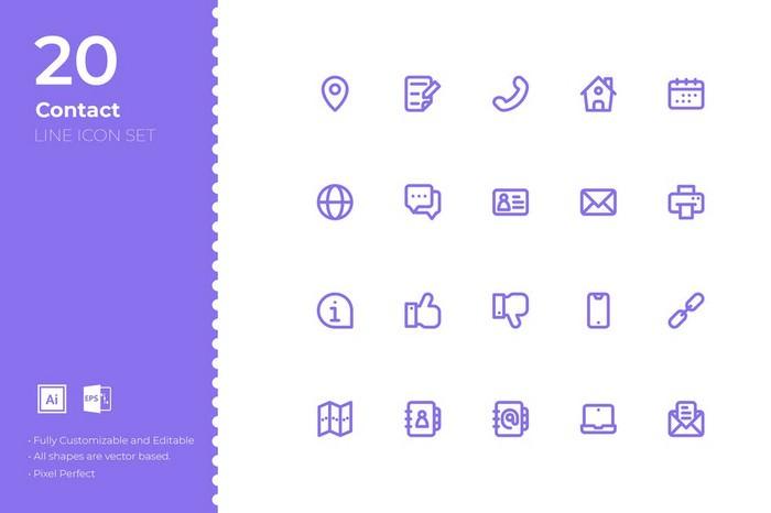 SRTP-Contact Icon Set